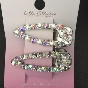 Magnificent iridescent Crystal hair clips